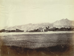 General view of the cantonment including the church, Kohat